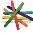 1000 Small Coloured Wooden Lollipop Sticks 93 mm x 10 mm Kids Craft Ice Lolly