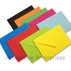 """10 5"""" x 7"""" Coloured Envelopes for Greeting Cards 100gsm ALL COLOURS"""