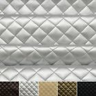 Quilted leather Diamond Padded Cushion Faux Leather Interior Upholstery Fabric