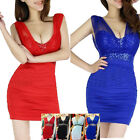 New Womens Ladies Sexy Bodycon Mini Short Prom Cocktail Ball Party Evening Dress