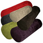 ma+6 Plain Colors Velvet Style Fabric Bolster Case Yoga Neck Roll Custom Size
