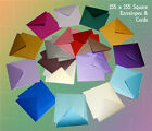 Square Pearl Envelopes & Card 155mmx155mm Pearlescent Colour Envelopes Cards LST
