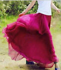 Womens Lady Girls Graceful Elastic Waist Bohemian Dress Chiffon Skirt Summer