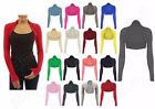 NEW LADIES WOMENS PLAIN SHRUG LADIES BOLERO SHRUG LADIES TOP PLUS SIZE 8-26