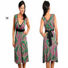 D8 New Ladies Cocktail Work Office Day Party Evening Sleeveless Print Plus Dress