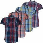 Mens Shirt Tokyo Tigers Checked Casual Short Sleeved Cotton Casual Slim Fit