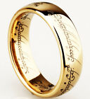 "Lord of the Rings ""The One Ring"" Bilbo's Hobbit Tungsten band carbide Gold 8mm"