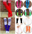 Ladies/Girls BRIGHT VIBRATE NEON LEG WARMERS MANY COLOURS FANCY DRESS OR PARTY