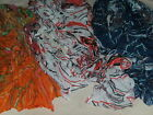 BNWT-Abstract Design-Light Weight Crinkle Style Scarf in Various Colours