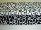 "Black & White Linked Circles 100% cotton fabric from Andover Size 22"" x 18"""