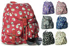 New Womens Medium Fabric Ice Cream Rucksack Backpack Multipockets Shoulder Bag