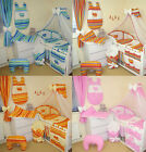 LOVELY 3 PCS, 7, 10, 13, 16 PCS NURSERY BEDDING SET  HEARTS  FOR COT OR COTB