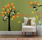 Monkey Tree Jungle Nursery Wall Art Stickers Children Bedroom UK