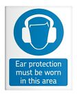 """Ear Protection MUST be Worn 8x10"""" Metal Sign Workplace Safety Premises #87"""