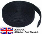 Black Hook and Loop Velcro style Rolls 2.5CM wide by 1 Metre Long double sided