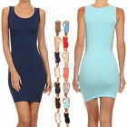Womens Dress Casual Stretchy Camisole Tank Top Slip Layering Size S,m,l Fashion