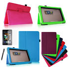 For Barnes & Noble Nook HD+ 9 inch Leather Smart Case Cover + Protector + Stylus