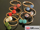 BRAND NEW SHAMBALLA PREMIUM CRYSTAL 2 BALL CLAY BRACELETS BANGLE- UK SELLER