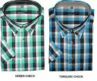 HENDERSON COTTON RICH SHORT SLEEVED CHECK SHIRTS (3153)SIZE 2XL TO 5XL, 2 COLORS