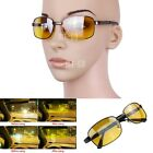 New HD Night Vision UV400 Driving Riding Running Glasses Sunglasses Yellow Lens