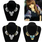 Hot New Fashion Jewelry Luxury Multi Crystal Cluster Bib Gold Statement Necklace