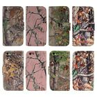 PU Leather Camo Card Holder Pouch Stand Cover Wallet Hybrid Case For iPhone 5 5S