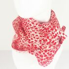 NEW Women's Versatile/Lightweight Red & White Leopard Print Lge Square Scarf