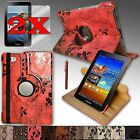 For Samsung Galaxy Tab2 7.0 Case Cover 360 Rotating Stand Sleep/Wake UP Function