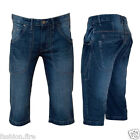 "Mens Boys Branded Tender Age Denim Jeans Bravo Style  Summer  Shorts UK 30""-38"""