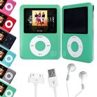 "8GB 8G Slim 1.8"" LCD Screen MP5 MP4 MP3 Music Player FM Radio 3th Gen Green"