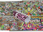 STICKER BOMB VINYL WRAP SHEET DECAL 0.1m(3.9in) to 0.9m(35.4in) x 1.52m(59.8in)