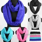 Fashion Women's Solid Color Soft Infinity Loop Cowl Eternity Circle Casual Scarf