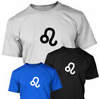 Zodiac LEO Star Sign Symbol - Mens T Shirt