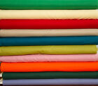 "44/45"" BROADCLOTH 100% Cotton WHOLESALE  FABRIC - 20 Yard Bolt - 30 Colors"