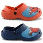 NEW JUNIORS GIRLS KIDS DE FONSECA SUMMER BEACH SPIDERMAN MARVEL CLOGS UK 11.5-3
