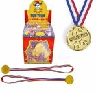 6, 12, 24, 48, 96 GOLD WINNERS MEDAL OLYMPIC KIDS IDEAL FOR PARTY BAG FILLERS
