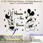 Minnie Mickey Mouse Wall Sticker Personalised Children Name NURSERY Decal SM