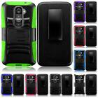 For LG G2 Mini LS885 Rugged Side Stand Holster Cover Case + LCD Screen Guard