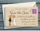 SAVE THE DATE MAGNETS Kissing Couple Mini Postcards with Envelopes
