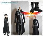 Hot Sword Art Online Kazuto Kirito Kirigaya Cosplay Costume And shoes Full Set