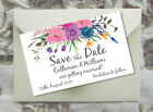 SAVE THE DATE MAGNETS PERSONALISED Cute Couple Bunting Design with Envelopes