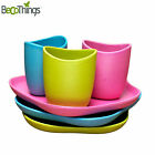 BecoThings Bambus Kinder Geschirr Set Kinderteller / Schale / Tasse Babygeschirr