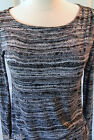 Daisy Fuentes~ Gray/Blue Rayon Long Sleeve Blouse $40~Size XS ~NWT