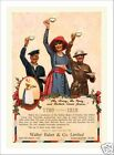 Antique Style BAKERS COCOA World War One WWI U.S. Army NAVY Sailor Soldier PRINT