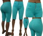 Sexy Colombian Latin Divas Levanta Cola Butt High Waist Mint Green Bermuda Jeans