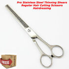 Pro Stainless Steel Thinning Shears Regular Hair Cutting Scissors Hairdressing