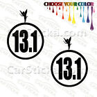 "2 of 5"" 13.1 Disney Tinker Bell Half Marathon /A run car bumper stickers decals"