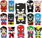 3D Cute Cartoon Super Hero Rubber Soft Back Case Cover For iPhone 5s 5c 6 6 Plus