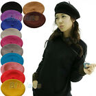 ATTRACTIVE WOOL WINTER GIRL BERET FRENCH ARTIST BEANIE HAT SKI CAP 12 COLORS BGA