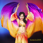 New Belly Dance silk veils many colors free ship 2.7x1.1m large veil real silk